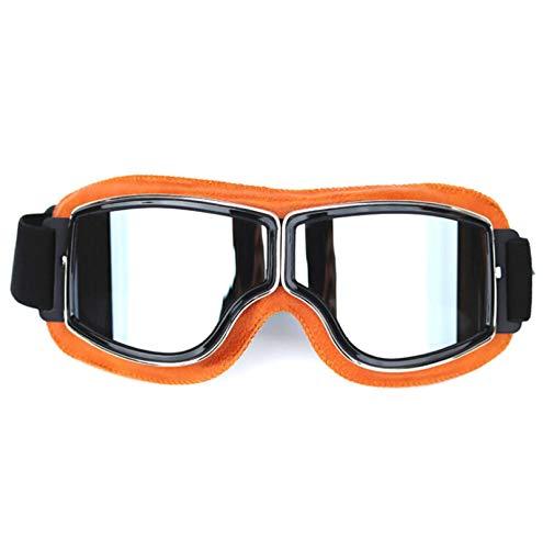 DOLOVE Motorrad Brille Verspiegelt Winddichte Schutzbrille Sport Schutzbrille Schießsport Gelb Silber