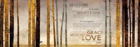 Feeling at Home Feelingathome-Leinwand-Bild-Familien-Gebets-cm40x121-Kunstdruck-auf-Leinwand (Penny Gebete)