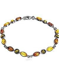 fca30c70142a Ámbar Multicolor pulsera de plata de ley (18 cm)