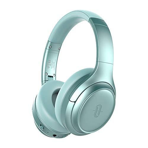 TaoTronics Active Noise Cancelling Bluetooth Kopfhörer, Tiefer Bass mit CVC Geräuschunterdrückendes Mikrofon, 30 Std Wiedergabedauer, Komfortable Ohrpolster für Reisen, Arbeit, TV, Telefon Grün -