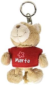 NICI n15824-Llavero Oso con Camiseta Marta, Rojo