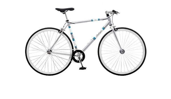Raleigh Men\'s Flyer Road Bike - Polished Silver, 58 cm: Amazon.co.uk ...