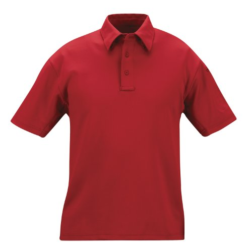 PROPPER Herren I.C.E Long Sleeve Regular Performance Polo Shirt rot