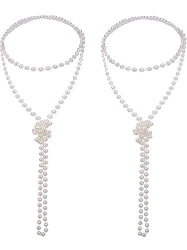 Der Große Gatsby Dress Up - 2 Stück 1920s Modern Künstliche Perle