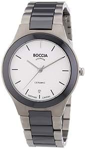 Boccia - B3564-01 - Montre Homme - Quartz - Analogique - Bracelet Titane Blanc