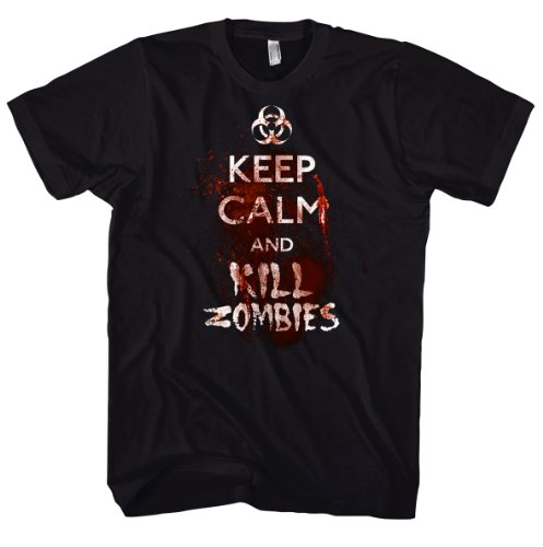 Keep Calm And Kill Zombies Fantasy 700890 T-shirt da uomo