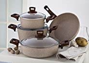 Granite Coating Series 7Pcs Cookware Set, 100057685, Beige