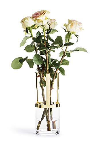Sagaform Designer Adjustable Gold and Glass Vase, Glas, Klar