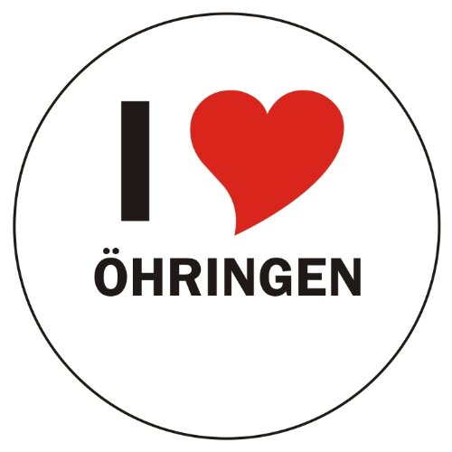 I Love ÖHRINGEN Laptopaufkleber Laptopskin 210x210 mm rund