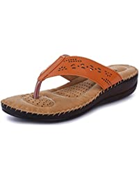 Trase Dr - Plus I Brown / Black / Cherry Ortho Slippers for Women ( With Comfortable Doctor Sole)