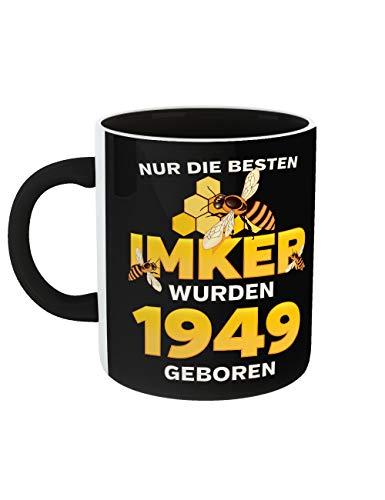 Geburtstag Kaffeetasse mit Aufdruck Die Besten Imker Jahrgang 1949