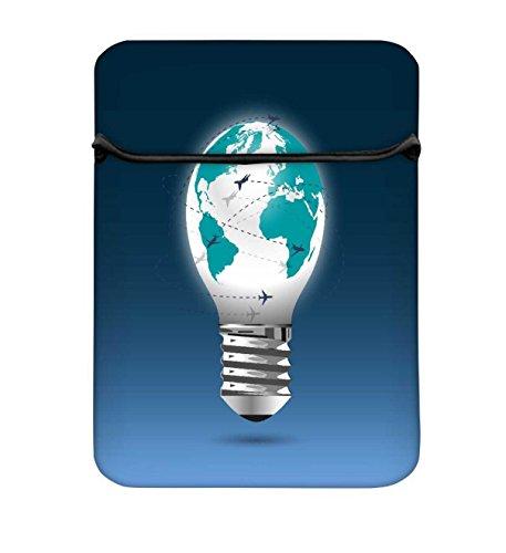 Leuchtmittel Globe mit Flying Planes 10bis 26,9cm Laptop Hülle Sleeve Case mit Reißverschluss...