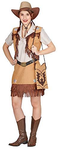 Andrea Moden Cowgirl Kimmy Kostüm für Damen - Braun Gr. 44/46 (Damen Kostüm Cowgirl)