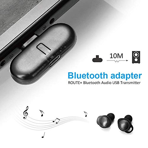 iBaste-Bluetooth-Adapter Switch Bluetooth Wireless Headset Receiver Adapter  Audio Transmitter USB Receiver Adapter
