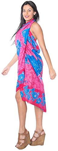 La Leela Vogel Strandrock Wrap Sarong Pareo Frauen verschleiern Kleid 72x42 Zoll Rosa