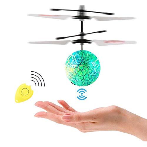 Herefun RC Fliegender Ball Hubschrauber Drohne mit bunt leuchtendem und Fernbedienung Hubschrauber Spielzeug Geschenke für 14+ Jahre alt Jungen Mädchen Kinder Indoor-und Outdoor-Spiele