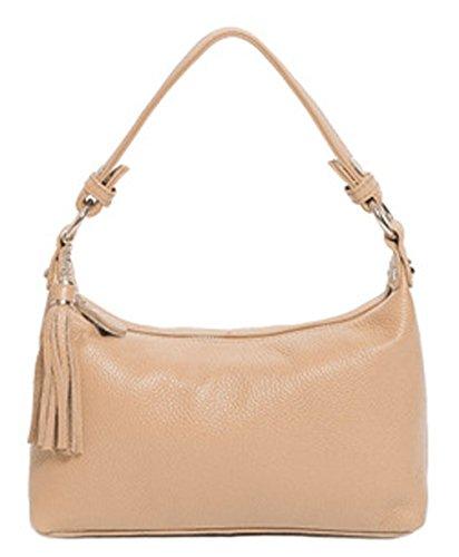 Leder neuer Stil Damen Handtaschen, Hobo-Bags, Schultertaschen, Beutel, Beuteltaschen, Trend-Bags, Velours, Veloursleder, Wildleder, Tasche Orange Keshi