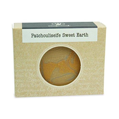 Seifenreich Mandel Patchouli Seife Sweet Earth   Naturseife mit Patchouliöl und Sheabutter   handgemachte Seife   Naturkosmetik   BIO zertifizierte Pflanzenöle   vegan   100 g -