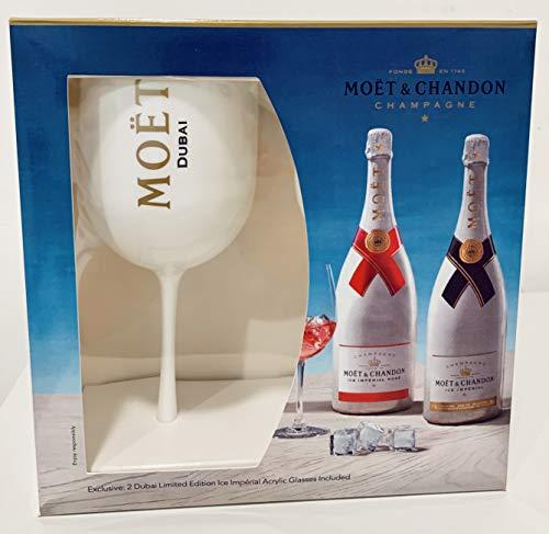 Moet & Chandon Ice Dubai Limited Geschenk Set Gift Set mit 2 Gläsern