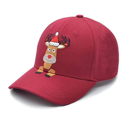 mütze mit Haifisch-Motiv, Bestickt, 100% Baumwolle, weich, für Herren, Dad Hut, Damen, verstellbar - rot - Medium ()