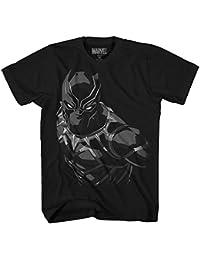 PUNISHER Hombre de La Camiseta de Algodón Vestido de Negro Sangre Marvel Z3aeB