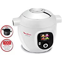 Moulinex Blanco olla multi-cocción, Sistema de cocción multifunción, multicocina inteligente con 100