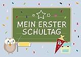 12 Einladungskarten zur Einschulungs-Party. Schulanfangs-, Schuleinführungs-, Schulbeginn-Feier für Jungen, Mädchen und ABC Schützen.