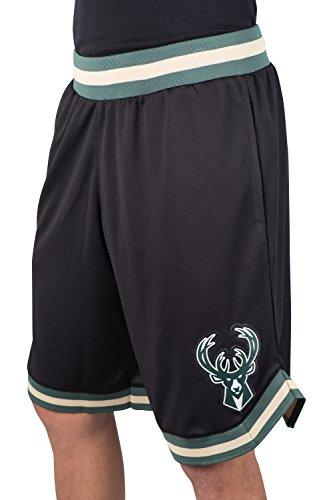NBA Herren Mesh Basketball Shorts Woven Active Basic, Team Logo schwarz, Herren, GSM3547F, schwarz, Medium -