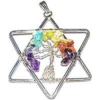 Crocon Baum des Lebens Sieben Chakra Star Form Anhänger für Reiki Healing Spirituelle Geschenk Chakra Balancing preisvergleich bei billige-tabletten.eu