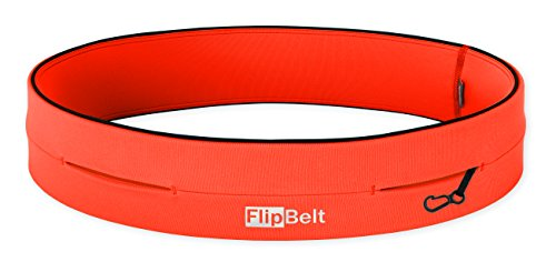 FlipBelt Classic Cinturón multibolsillo, Unisex Adulto, Naranja, M