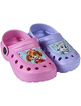 PAW PATROL - SKYE AND EVEREST - CROCKS talla de 22 a 29 (rosa y morado)
