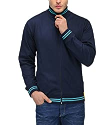 Scott International AWG Mens Premium Rich Cotton High Neck Sweatshirt - Navy Blue - AWGSSRN1s
