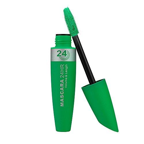 masrin Neue Lange lockige Haare Make-up Wimpern Multicolor wasserdichte Faser Mascara Wimpern Farbe Mascara (Grün) - Haar Extra Rollen Große