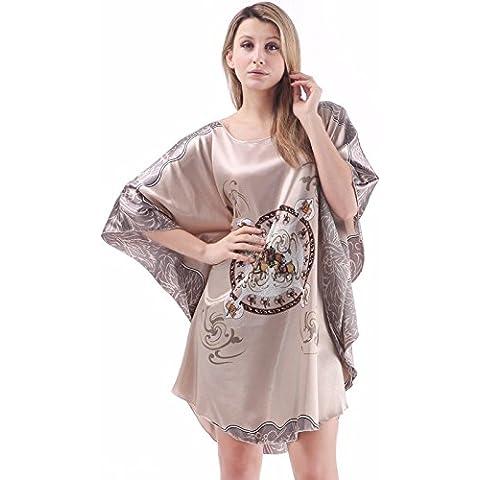 Donna cappotto batwing ladies pigiami di seta e confortevole dimensione