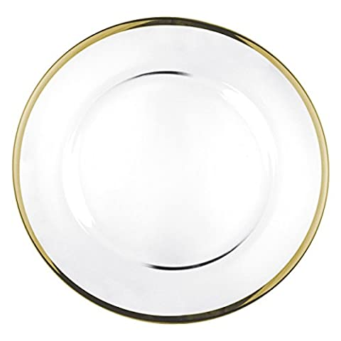 GLASS PLATE GOLD