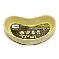 Happy Pet Products Komodo Kidney Shaped Ceramic Bowl (Assorted Colours) (Small) (Assorted)