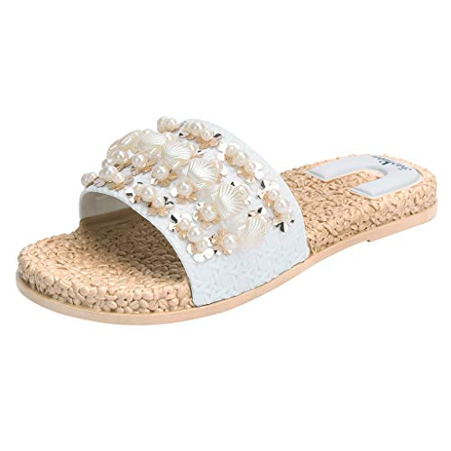 HuaMore Ciabatte Estive da Donna, Eleganti E Comode Pantofole Riposate, Sandali Casual da Spiaggia Piatta