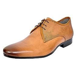Allen Cooper Mens Tan Leather Derby Shoes - 7 UK