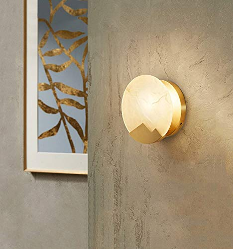 Postmoderne designer marmor halle wandleuchte kreative restaurant bar wohnzimmer wandleuchte - Halle Kristall-wandleuchte