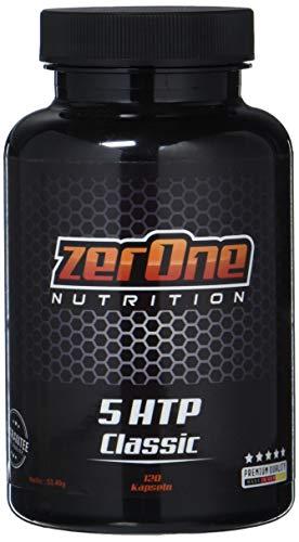 ZerOne 5-HTP 120 Kapseln Reines Griffonia Extrakt, Made in Germany Fördert den Schlaf Erhöht die Stimmung, Appetitzügelnd Unterstützung von Serotonin