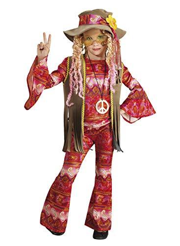 (chiber - Hippie Flower Power Kostüm für Mädchen (10-12 Jahre))