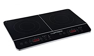 Laptronix Double Digital Touch Induction Hob Portable Twin Electric Cooker 2800W