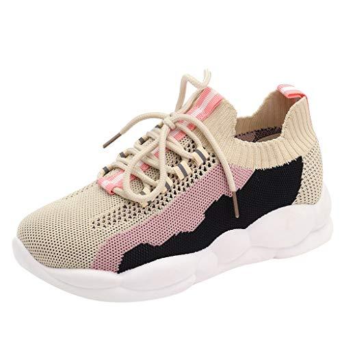 Outdoor Sneakers Frauen Color Line Mesh atmungsaktive Schuhe,Turnschuhe Mode Plattform Freizeitschuhe-Joggingschuhe-Runningschuhe-Haferlschuhe URIBAKY