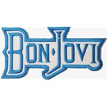 Bon Jovi azul parche Badge bordado hierro o coser en 9cm x 4,5cm