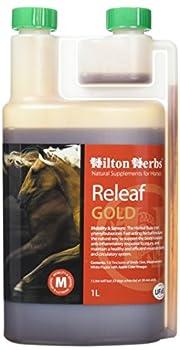 Hilton Herbs Releaf Gold 1 L Complément Alimentaire Cheval Anti Inflammatoire Naturel