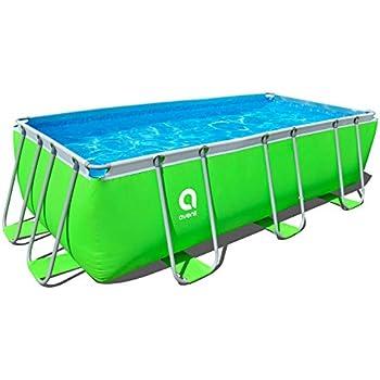jilong pool rechteckig mit rahmen 400x200x99 cm gr n garten. Black Bedroom Furniture Sets. Home Design Ideas