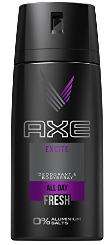 AXE Deospray Excite ohne Aluminium 150 ml, 3er Pack (3 x 150 ml) (Axe Body Spray Deodorant)