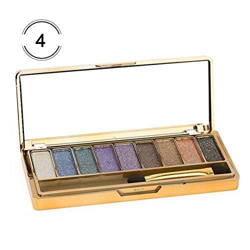 9 Farbschimmer-Lidschatten-Pulver-Palette, dauerhafte wischfeste Goldschimmer-Erdton-Lidschatten-Palette für natürliches Naked Makeup