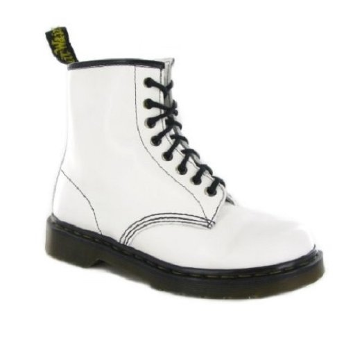 Dr Martens Broken In 1460, Boots mixte adulte Blanc