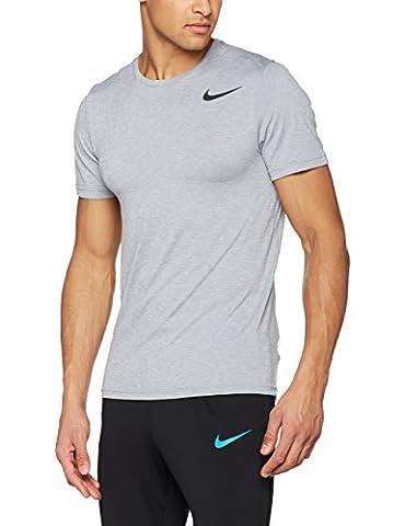 Nike Herren Breathe Training T-Shirt, Pure Platinum/Stealth/Black, M